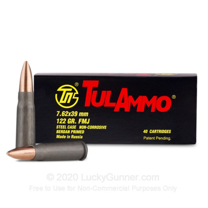 Image 2 of Tula Cartridge Works 7.62X39 Ammo