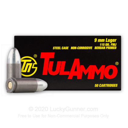 Image 2 of Tula Cartridge Works 9mm Luger (9x19) Ammo