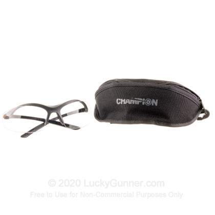 Large image of Cheap Champion Interchangeable Lens (Clear/Smoke/Yellow) Shooting Glasses For Sale - 40606 - Champion Glasses in Stock - 1 Pair