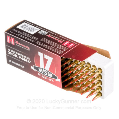 Image 3 of Hornady .17 Win Super Mag (WSM) Ammo