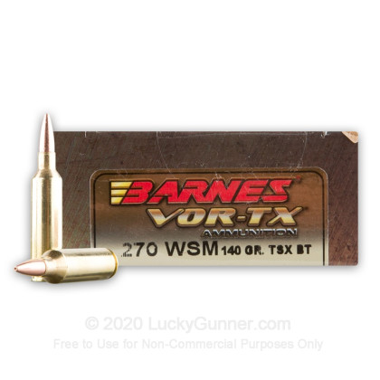 Image 2 of Barnes .270 Winchester Short Magnum Ammo