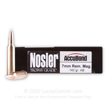 Image 1 of Nosler Ammunition 7mm Remington Magnum Ammo