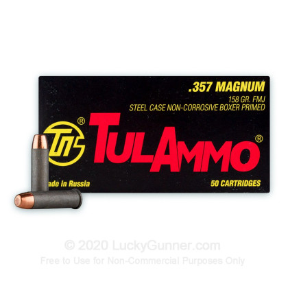 Image 2 of Tula Cartridge Works .357 Magnum Ammo
