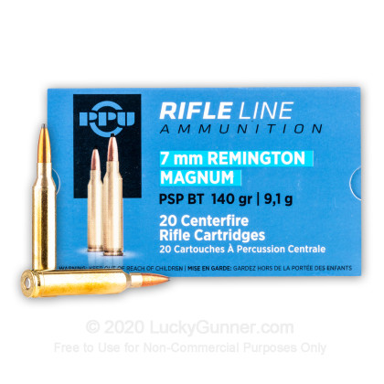 Image 1 of Prvi Partizan 7mm Remington Magnum Ammo