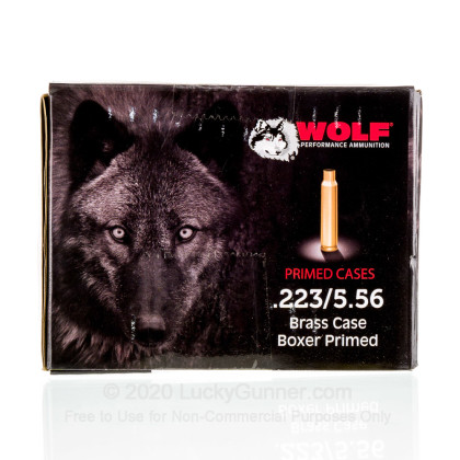 Large image of Cheap 223 Rem Casings For Sale - Casings in Stock by WOLF Performance Ammunition Gold - 250 Casings