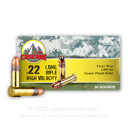 Image 1 of Cascade International .22 Long Rifle (LR) Ammo