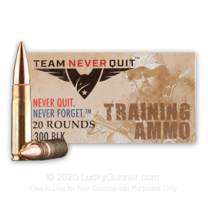Image 2 of Team Never Quit .300 Blackout Ammo