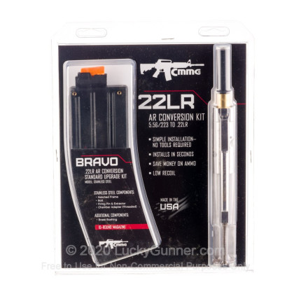 Large image of Stainless Steel CMMG AR-15 .22 Long Rifle Conversion Kit Bravo For Sale - 1 Magazine