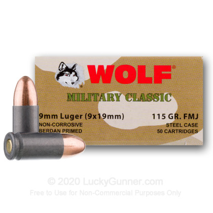 Image 3 of Wolf 9mm Luger (9x19) Ammo