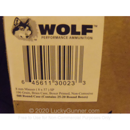 Image 3 of Wolf 8mm Mauser (8x57mm JS) Ammo