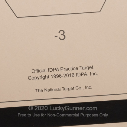 Large image of Bulk IDPA Paper Targets For Sale - Classic IDPA-P Targets in Stock by National Target Company - 100 Count
