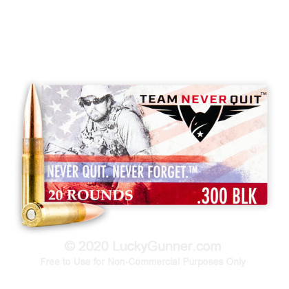 Image 1 of Team Never Quit .300 Blackout Ammo