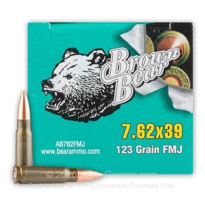 Image 2 of Brown Bear 7.62X39 Ammo