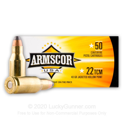 Image 1 of Armscor .22 TCM Ammo