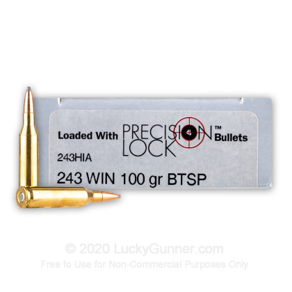 Large image of Premium 243 Ammo For Sale - 100 Grain SPBT InterLock Ammunition in Stock by PMC Precision - 20 Rounds