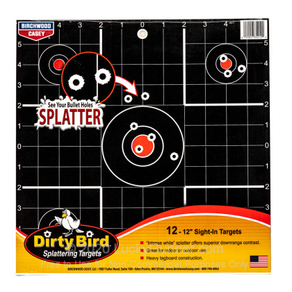 "Large image of Dirty Bird Black Targets For Sale - Dirty Bird Target Kit - Birchwood Casey 12"" Targets For Sale"