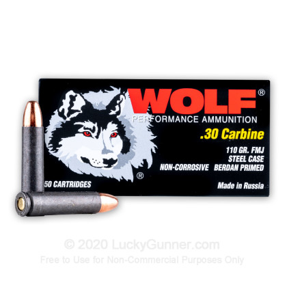 Image 2 of Wolf 30 Carbine Ammo