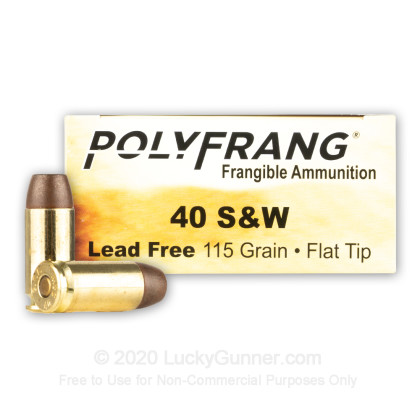 Image 2 of Polyfrang .40 S&W (Smith & Wesson) Ammo