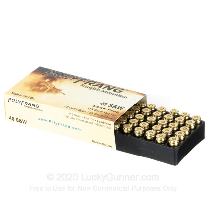 Image 3 of Polyfrang .40 S&W (Smith & Wesson) Ammo