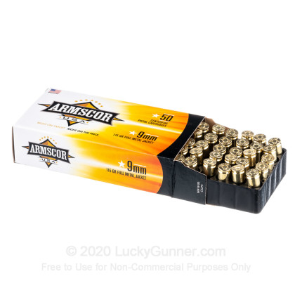 Image 3 of Armscor 9mm Luger (9x19) Ammo