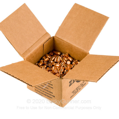 "Large image of Premium 38 Super (.356"") Bullets for Sale - 125 Grain JHP Bullets in Stock by Zero Bullets - 500 Projectiles"