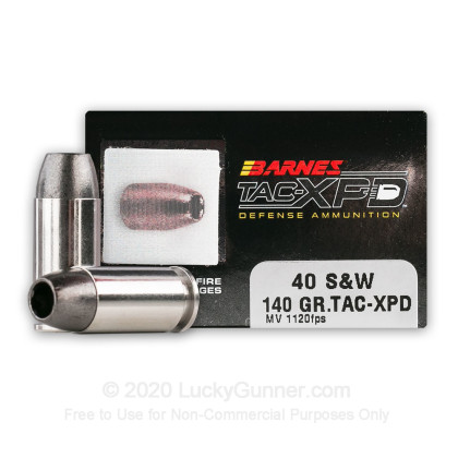 Image 1 of Barnes .40 S&W (Smith & Wesson) Ammo