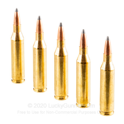 Large image of Premium243 Win Ammo For Sale - 85 Grain PSP Ammunition in Stock by Nosler Custom - 20 Rounds