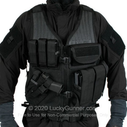 Large image of Tactical Vest - Omega Elite - Cross Draw - Pistol Mag Pouches - Blackhawk - Black For Sale