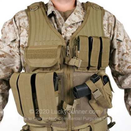 Large image of Tactical Vest - Omega Elite - Cross Draw - Pistol Mag Pouches - Blackhawk - Coyote Tan For Sale