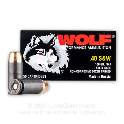 Image 2 of Wolf .40 S&W (Smith & Wesson) Ammo