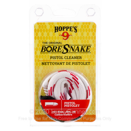 Large image of Hoppe's BoreSnakes for Sale - 357 Magnum, 9mm, 380 Auto, 38 Special - Hoppe's BoreSnake For Sale