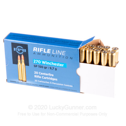 Large image of 270 Win Ammo In Stock  - 150 gr Prvi Partizan SP Ammunition For Sale Online - 20 Rounds