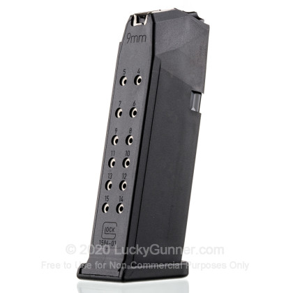 Large image of Factory Glock 9mm G19 15 Round Generation 4 Magazine For Sale - 15 Rounds