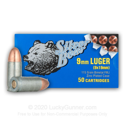 Image 1 of Silver Bear 9mm Luger (9x19) Ammo