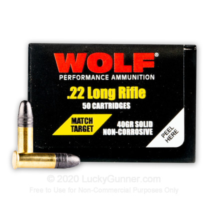 Image 2 of Wolf .22 Long Rifle (LR) Ammo