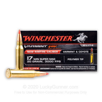 Image 2 of Winchester .17 Win Super Mag (WSM) Ammo