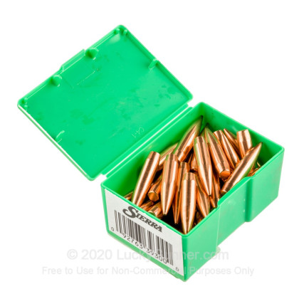 """Large image of Premium 338 Caliber (.338"""") Bullets For Sale - 300 Grain HPBT Bullets in Stock by Sierra MatchKing - 50 Projectiles"""