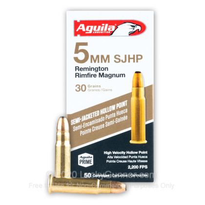 Image 1 of Aguila 5mm Remington Magnum Ammo