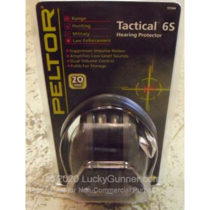 Large image of Peltor Black Tactical 6S Electronic Earmuffs For Sale - 20 NRR - Peltor Hearing Protection in Stock