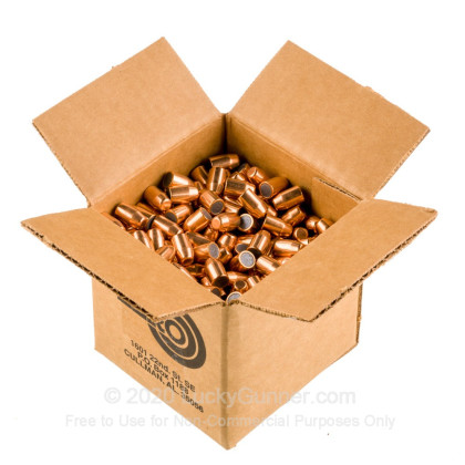 """Large image of Premium 40 S&W (.400"""") Bullets for Sale - 200 Grain FMJ-TC Bullets in Stock by Zero Bullets - 500 Projectiles"""