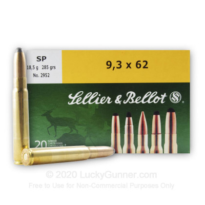 Image 2 of Sellier & Bellot 9.3x62 Mauser Ammo