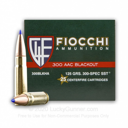 Large image of Bulk 300 AAC Blackout Ammo For Sale - 125 Grain SST Ammunition in Stock by Fiocchi Exrema - 500 Rounds