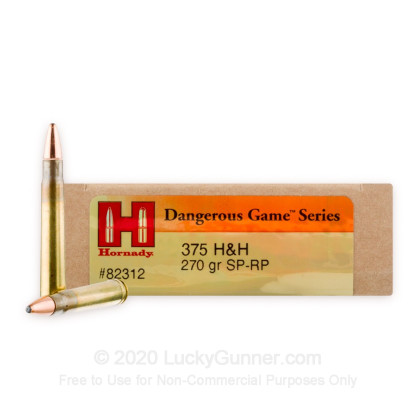 Image 1 of Hornady .375 H&H Magnum Ammo