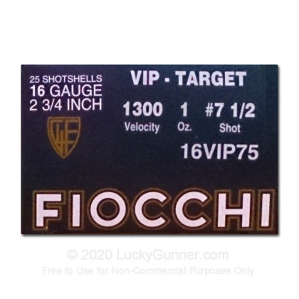 Large image of Cheap 16 Ga Fiocchi #7.5 Target Ammo For Sale - Fiocchi Premium 16 Ga Shells - 25 Rounds