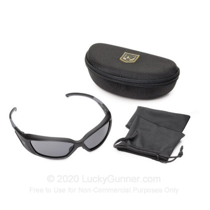 Large image of Revision Hellfly Ballistic Glasses -  Hellfly Ballistic Eyewear with Black Frame and Smoke Lenses For Sale