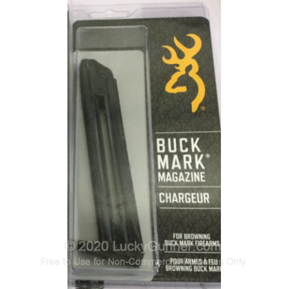 Large image of Factory Browning 22 LR Buck Mark 10 Round Magazine For Sale - 10 Rounds