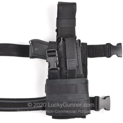Large image of Ambidextrous Universal Configurable Holster - Belt / Leg-Drop / MOLLE From Eagle Industries - Black