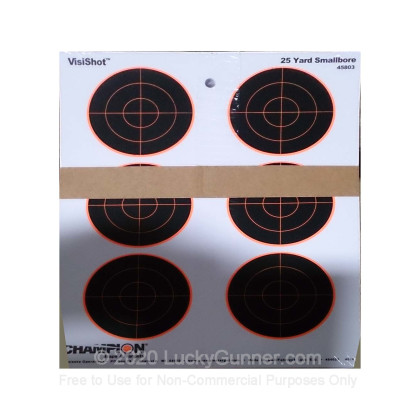 Large image of Cheap Targets For Sale - VisiShot Smallbore Sight-In Targets in Stock by Champion (45803) - 10 Count Pack