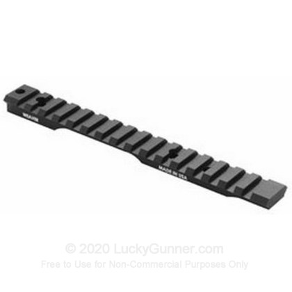 "Large image of Cheap 1-Piece Tactical Picatinny Rail Base for Mounting Scope Rings by Weaver - Extended Multi-Slot Base Provides 1"" Forward Length"
