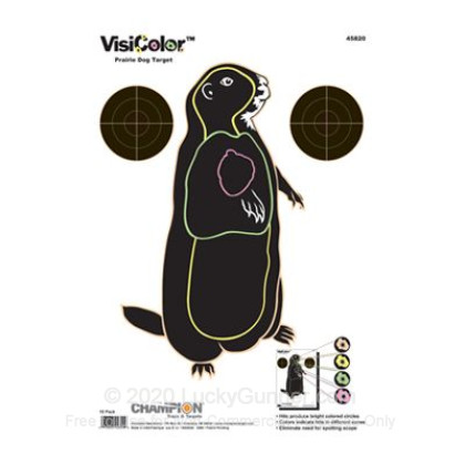 Large image of Champion VisiColor Prairie Dog Targets For Sale - Reactive Indicator Targets In Stock